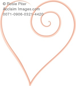 clip art illustration of a pink heart