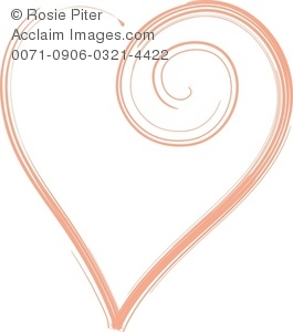 clip art image of a red heart