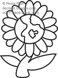 Daisies Black And White Clip Art