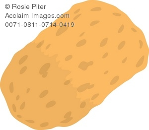clip art illustration of a yellow bath sponge