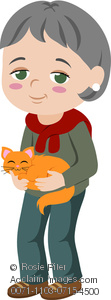 Image of an woman holding a cat
