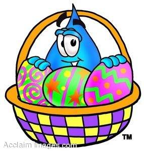 Waterdrop Cartoon Character With Easter Eggs