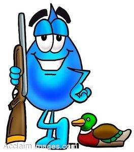 Waterdrop Cartoon Character Duck Hunting