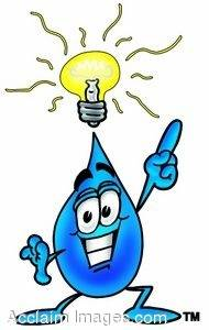 Waterdrop Cartoon Character With an Idea