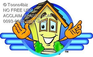 Cartoon House Character Logo
