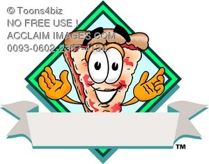 Cartoon Pizza Character Logo