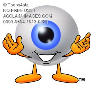 Cartoon Eye Ball Character