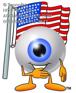 Cartoon Eye Ball Character During Pledge of Allegiance