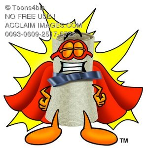 Diploma Cartoon Character Wearing a Super Hero Costume