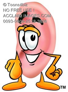 Ear Cartoon Character Pointing at You