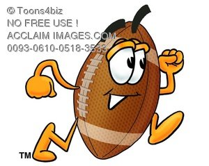 Football Cartoon Character Running