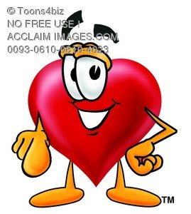 Heart Cartoon Character Pointing at You