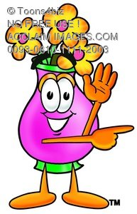 Flower Cartoon Character Giving Directions