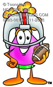 Flower Cartoon Character Playing Football