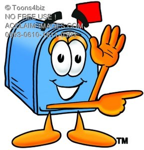 Mail Box Cartoon Character Giving Directions