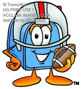Mail Box Cartoon Character Playing Football
