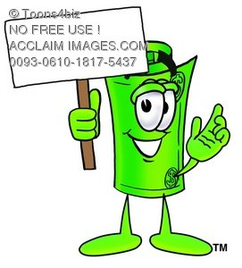 Rolled Money Cartoon Character Holding a Blank Sign