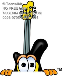 Cartoon Guitar Character