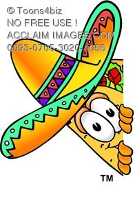 cartoon taco character peeking around something rh clipartguide com
