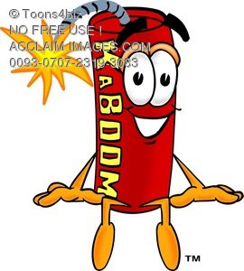 Cartoon Fire Cracker or Stick of Dynamite
