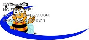 Cartoon Bumble Bee or Honey Bee Logo or Graphic