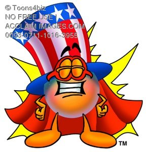 Uncle Sam Character Super Hero