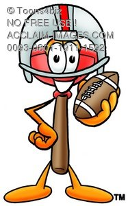 Cartoon Plunger Playing Football
