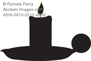 Silhouette of a Candle in a Holder