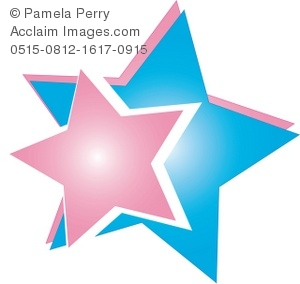 Pink and Blue Star Design