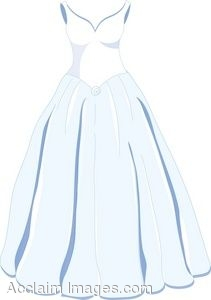 clip art of a classic wedding gown rh clipartguide com wedding dress clipart white wedding dress clipart images