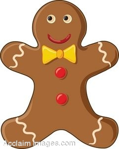 clip art of a smiling gingerbread man rh clipartguide com gingerbread man clip art free