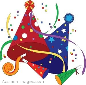 Clip Art Of Party Favors For New Year