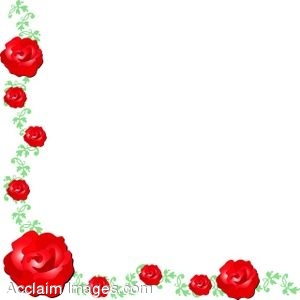 Clip Art Of A Corner Page Border Made Roses