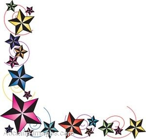clip art of a page border made of nautical stars rh clipartguide com