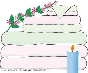 Spa Towels and Candle