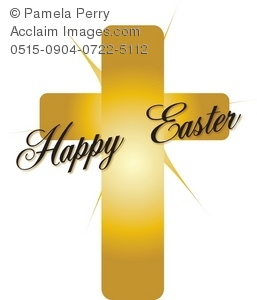 Easter Golden Cross