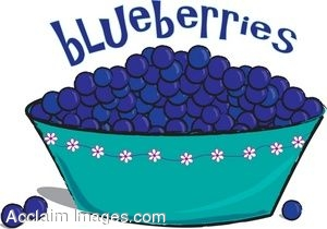 Clip Art Of A Bowl Blueberries