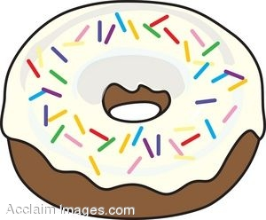 clip art of a frosted donut with sprinkles rh clipartguide com donut clip art free donut clipart border