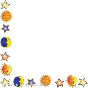 Moon and Suns Border