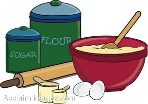 Clip Art of Things Used For Baking a CakeBaking Bowl Clipart