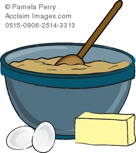 clip art illustration of a mixing bowl with batter eggs and butter rh clipartguide com mixing bowl clipart black and white mixing bowl and whisk clipart