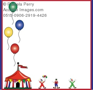 Circus Tent and Clowns Background