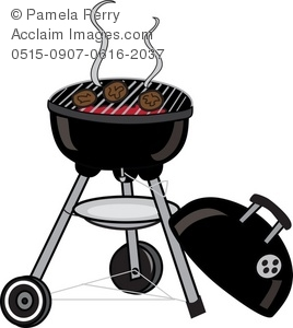 burgers cooking on a charcoal bbq grill royalty free clip art picture rh clipartguide com BBQ Silhouette Clip Art bbq grill clipart free