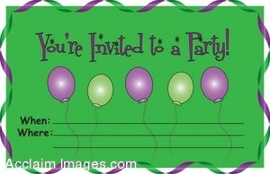 Party Invitation With Balloons