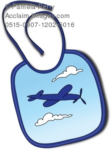 Baby Boy Bib With a Plane Graphic