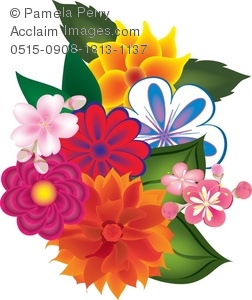 Flower Picture Guide on Bouquet Of Flowers Royalty Free Clip Art Picture