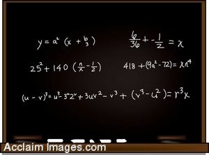 Algebra on a Blackboard