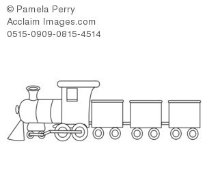 Toy Train Coloring Page Royalty Free Clip Art Picture