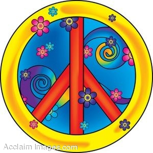 Peace Sign In Psychedelic Colors