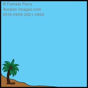 Tropical Island Page Border